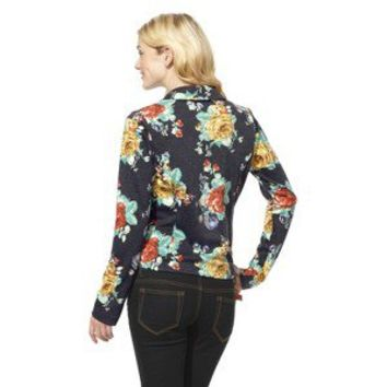 Xhilaration® Juniors Knit Blazer - Blue Floral