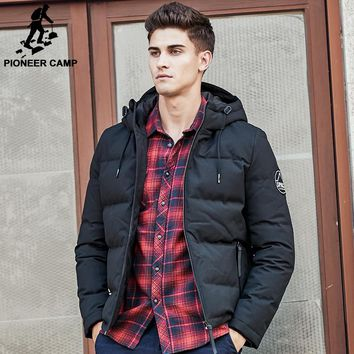 Pioneer Camp men down jacket brand puffer down jacket men casual Russian winter duck down coat snow warm parkas for men 611625