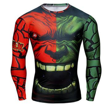 Hulk/Red Hulk Long Sleeve Compression Shirt