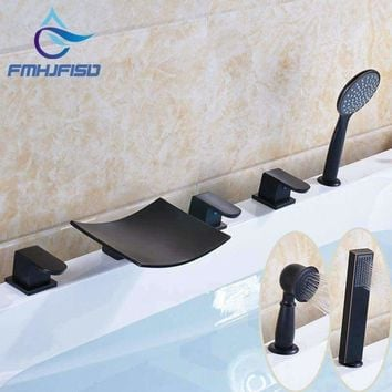 Promotion Best Quality Oil Rubbed Bronze Deck Mounted Bathroom Bathtub Mixer Faucet