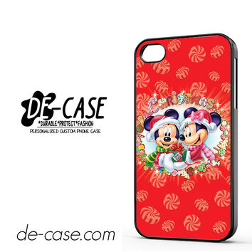 Mickey And Minnie Mouse Disney Christmas For Iphone 4 Iphone 4S Case Phone Case Gift Present