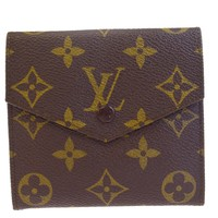 Authentic LOUIS VUITTON Porte Monnaie Snap Wallet Purse Monogram M61660 02BD328