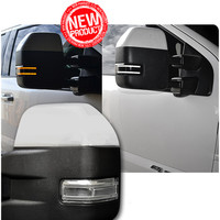 Part # 264245WHBK - SMOKED Ford 17-18 F250/F350/F450 Superduty Side Mirror Lenses