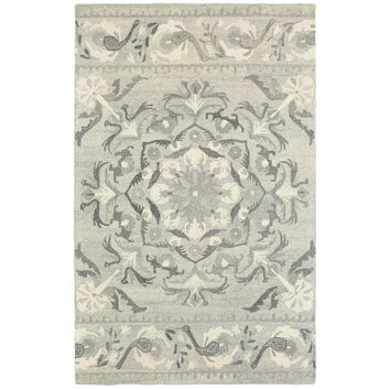 Oriental Weavers Craft 93001 Ash/ Ivory Floral Area Rug