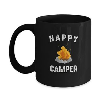 Happy Camper Bonfire Camp Life Coffee Mug