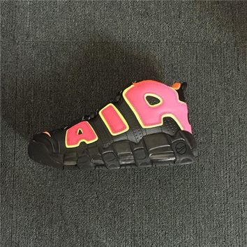 "Nike Air More Uptempo ""Hot Punch"" Sneaker Shoe"