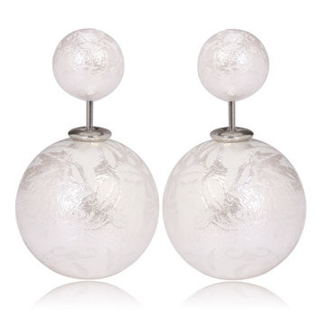 Gum Tee Mise en Style Tribal Earrings - Oriental White