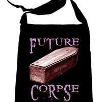Future Corpse w/ Coffin Crossbody Sling Bag Goth Dark