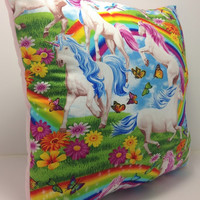 Group One Home®Unicorn Butterflies & Rainbows Accent Throw Pillow