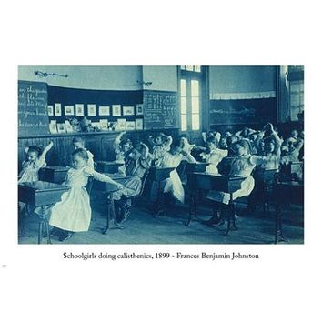 Frances Benjamin Johnston 1899 SCHOOLGIRLS DOING CALISTHENICS Poster 24X36