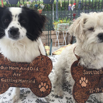 Dog Signs Photo Prop My Humans Are Getting Married! - Wedding / Engagement  Save the Date Sign, Wood Dog Bone Sign Wedding Photo Prop