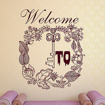 Welcome To Wonderland Sing Quote Alice In Wonderland Wall Decal Home Decor DS435