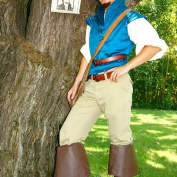 Flynn Rider Adult A Men's Custom Costume Vest Rapunzel Tangled