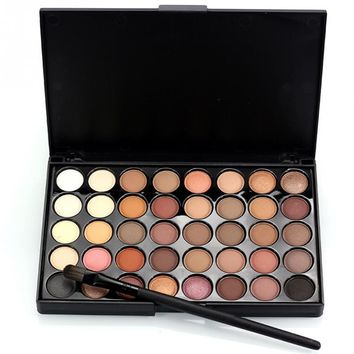 Pearlescent  40 Colors Matte Eyeshadow Powder Palette Makeup Contouring Kit Eye Shadow Brush Palette Le fard a paupieres