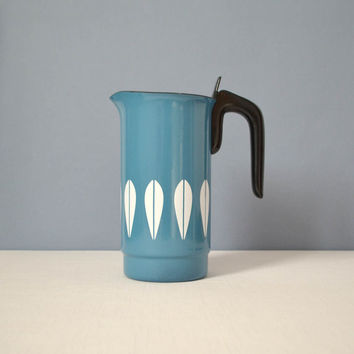 Vintage Pristine Cathrineholm Lotus Blue Coffee Percolator