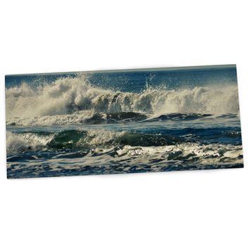 "Robin Dickinson ""Forever Young"" Blue Coastal Desk Mat"