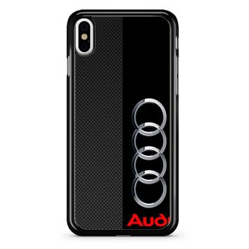 Audi Logo On A Field Of Black iPhone X Case
