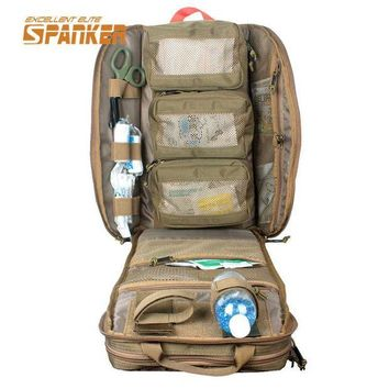 LONMF SPANKER Tactical MOLLE Medical Backpack Military First Aid Kit Backpack Emergency Assault Combat Rucksack Outdoor Hunting Bags