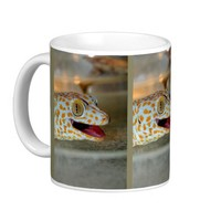 Close up portrait of Tokay gecko in TulaZoo Coffee Mug