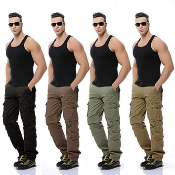 Plus Size Outdoors With Pocket King Size Casual Pants [6581569927]