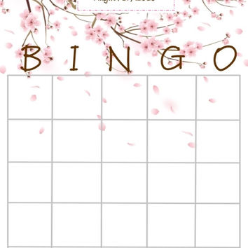 Cherry Blossom Bridal Shower Bingo Cards