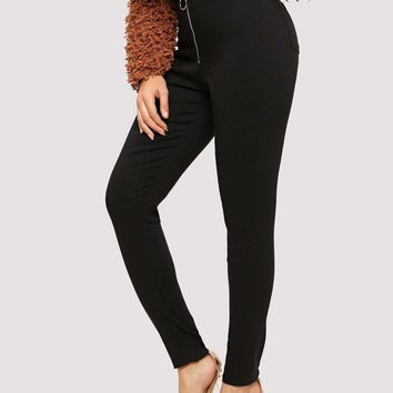 Zip-up Pocket Detail Jeggings