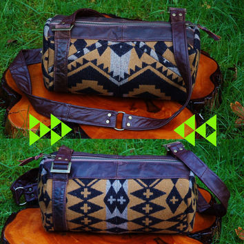 pendleton reclaimed leather bag by myHOMEBYTHESEA