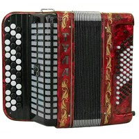 Brand NEW Russian Chromatic Button Accordion, Bayan for Children or Beginner, Tula Bn 42, 3 Row, 60 Bass, Light Weight, Stradella
