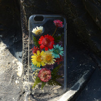 Pressed flower iphone 6 plus case clear iphone 6 case real dried flower iphone 4/4s/5/5s/5c/6 plus cases cover pressed flower iphone case F3