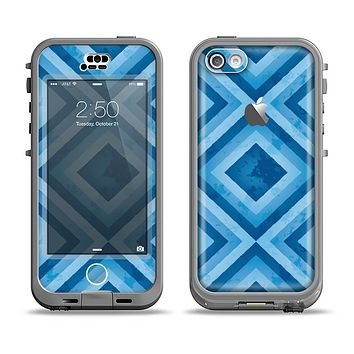 The Blue Diamond Pattern Apple iPhone 5c LifeProof Nuud Case Skin Set
