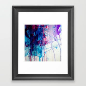 Watercolor Waterfall 2 Framed Art Print by Love Art Wonders by God Nickyart