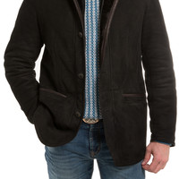 Gimo's Croschetino Shearling Jacket in Black/Brown - AXEL'S