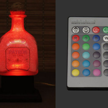 Patron Tequila Color Changing Bottle Lamp LED Remote Controlled Eco Friendly RGB led/Party Light -Bodacious Bottles-
