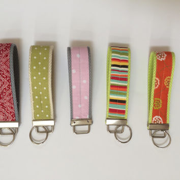 Durable Key fob wristlets in a variety of patterns