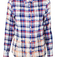 Tulip Back Plaid Shirt