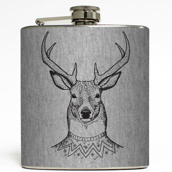 Dasher - Reindeer Christmas Flask
