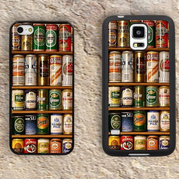 Vintage Beer Cans iPhone Case-iPhone 5/5S Case,iPhone 4/4S Case,iPhone 5c Cases,Iphone 6 case,iPhone 6 plus cases,Samsung Galaxy S3/S4/S5-102