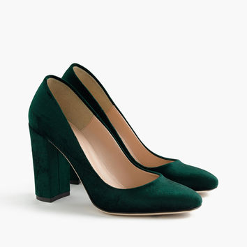 Lena pumps in velvet : Women shoes | J.Crew