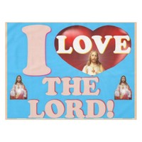 I Love The Lord! Tablecloth