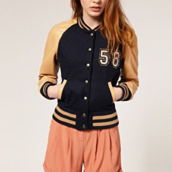 ASOS Varsity Leather Jacket