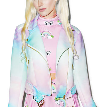 Sugarpills Ombre Moto Jacket Multi