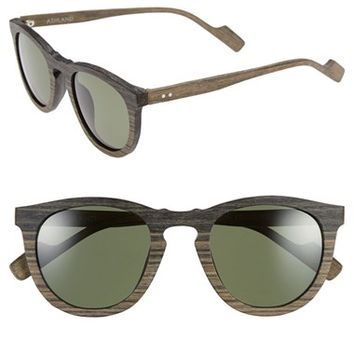 Men's Crimson Visual 'Ashland' 49mm Polarized Sunglasses - Black Wood/ Tan