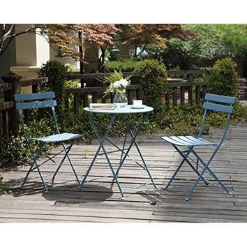 Patio Bistro Set Folding Outdoor Patio Furniture Sets Patio Table Chairs Steel