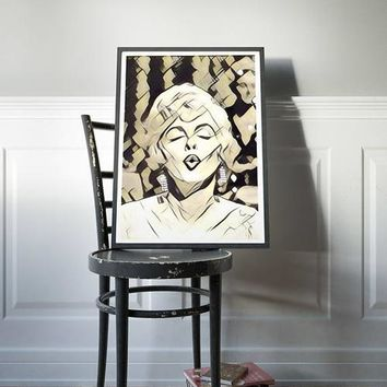 Marilyn Monroe Poster Art Painting Print Canvas