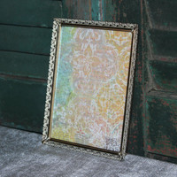 Vintage 4.5x6 gold picture frame, antique picture frame, gold decor