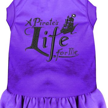 A Pirate's Life Embroidered Dog Dress Purple Lg (14)