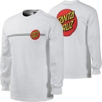 Santa Cruz Classic Dot L/S T-Shirt - white - Free Shipping