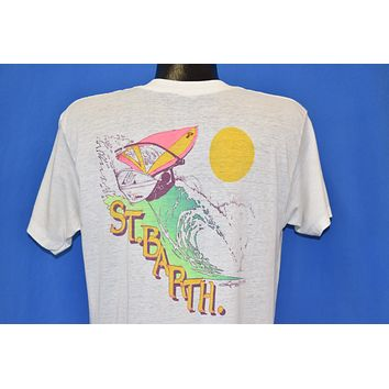 80s St. Barth's Wind Surfing School t-shirt Large