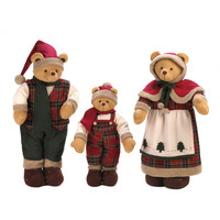 Plush Santa Clause Bear Family