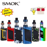 Original 220W SMOK Alien Vape Kit with Smok TFV8 Baby Tank 3ml Atomizer & Box Mod E-cig Starter Kit VS Smok G-priv/G320/GX350
